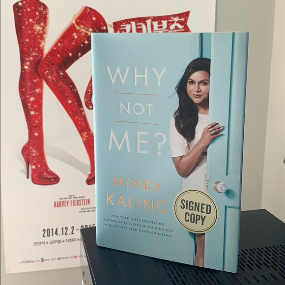 Accents Signed Book Why Not Me Mindy Kaling Poshmark